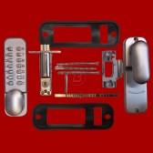 EASY CODE PUSH BUTTON LOCK (MECHANICAL) W/ TUBULAR LATCH